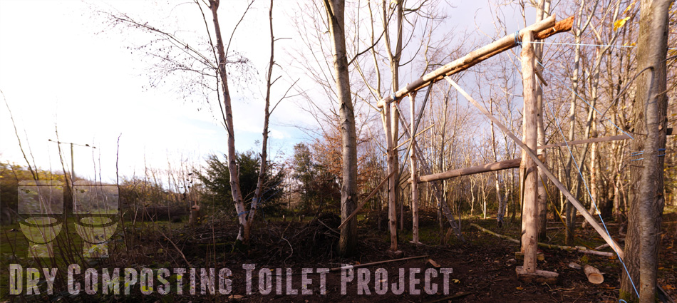 Round-wood timber composting toilet